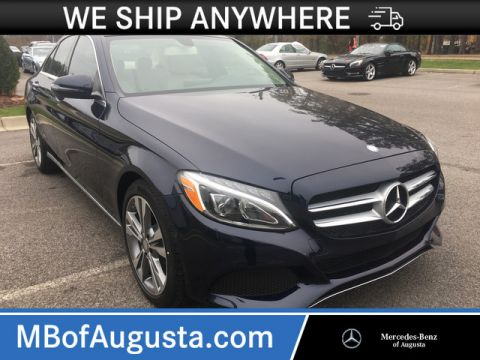 Pre-Owned 2017 Mercedes-Benz C 300 Rear Wheel Drive Sedan