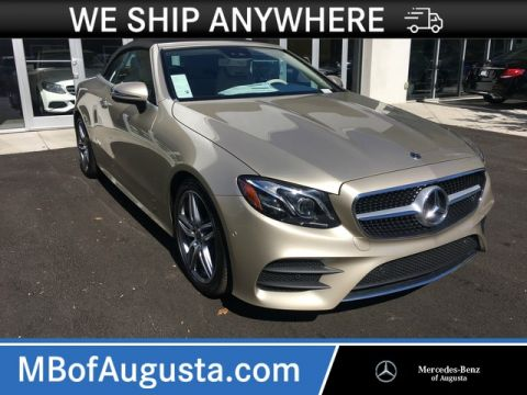 New 2018 Mercedes-Benz E 400 Rear Wheel Drive Convertible