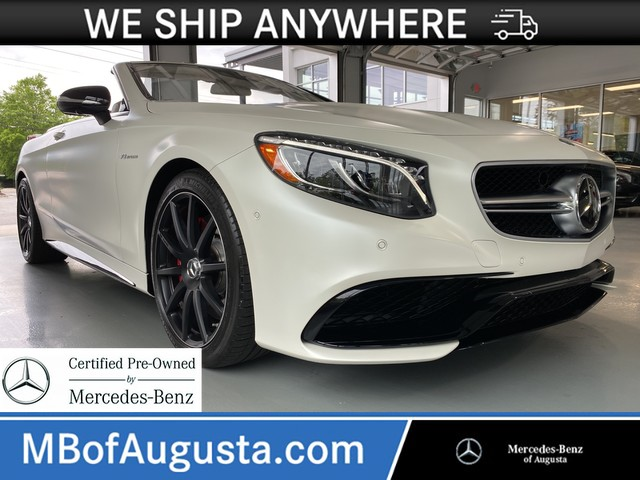 Certified Pre-Owned 2017 Mercedes-Benz S-Class AMG® S 63 Cabriolet