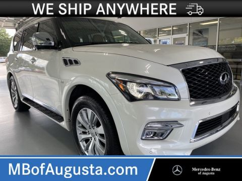 Pre-Owned 2016 INFINITI QX80 AWD Signature Edition-Driver Assistance-Split Bench Seat